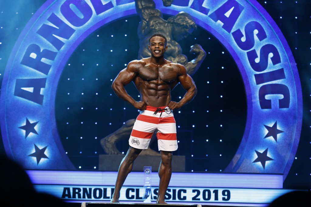 2019 Arnold Men's Physique Champion Andre Ferguson Photo by Dave Emery.JPG