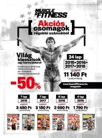 Muscle and Fitness magazin 2015-2018 év összes lapszám